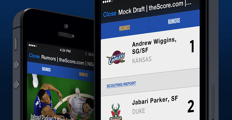 quickdraft thescore daily fantasy platform