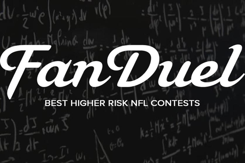 how to choose higher risk fanduel nfl contests