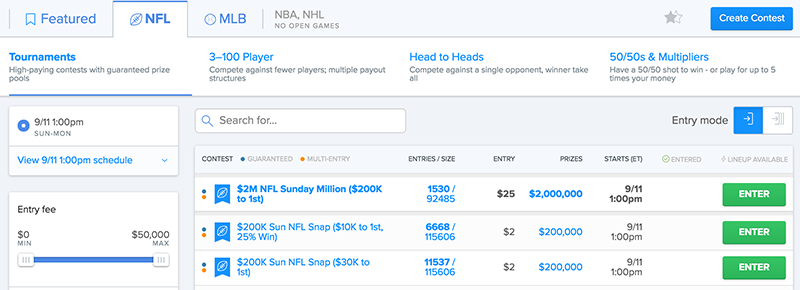 new fanduel design and lobby