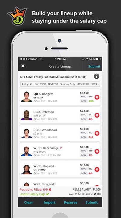 draftkings-fantasy-app