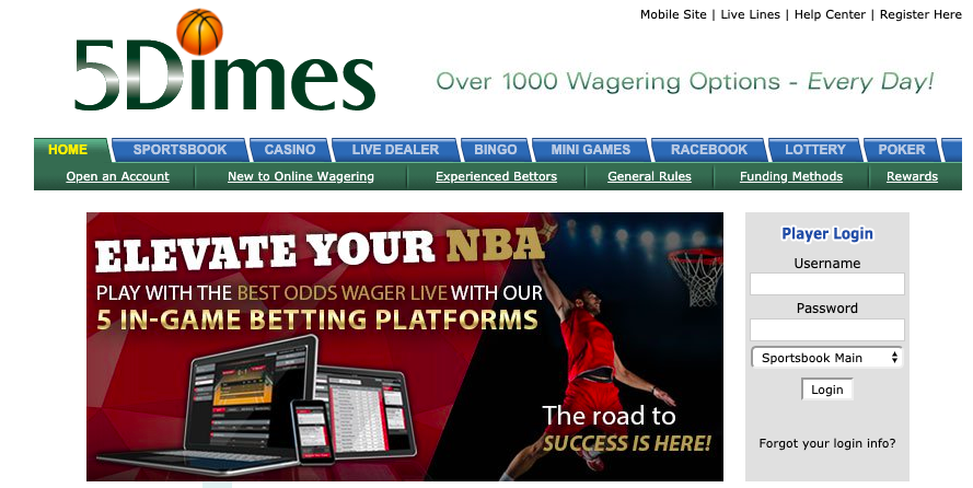 Latest 5Dimes promo code offers for 2019