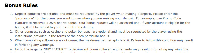 sportsbetting.ag rollover policy