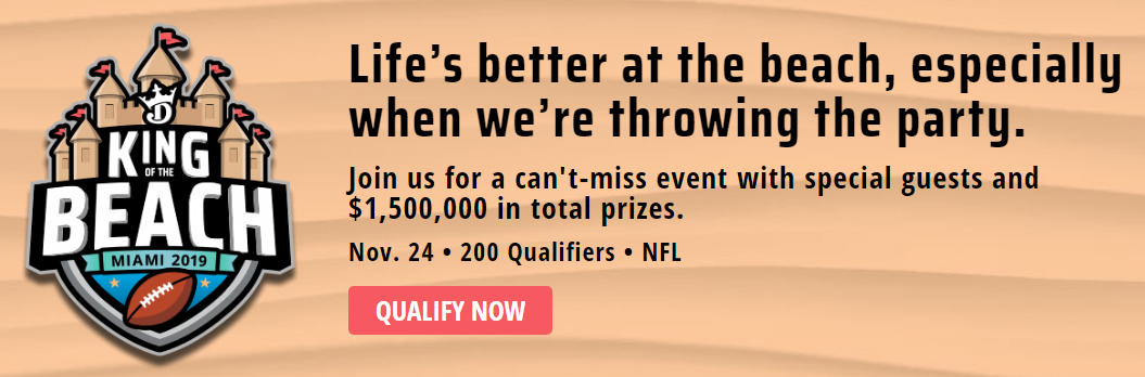 draftkings free king of the beach entry