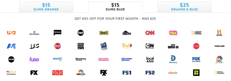sling tv promo code channel packages