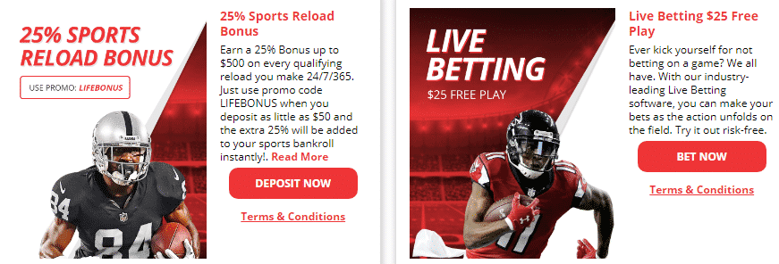 2019 nfl promo codes from betonline