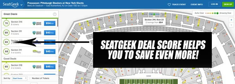 save even more on discounted tickets with seatgeek deal scores