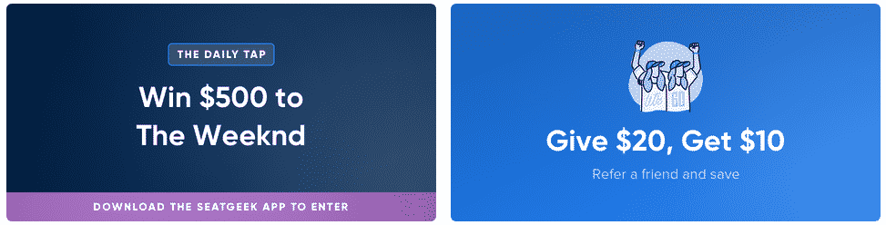 new seatgeek promotions for march 2020