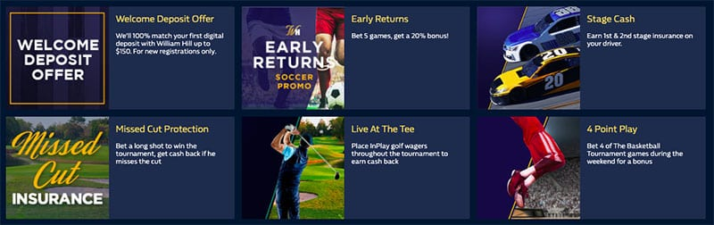 william hill promo code offers by state