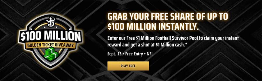 draftkings nfl week one free entry