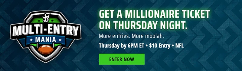 draftkings week three millionaire maker lineup