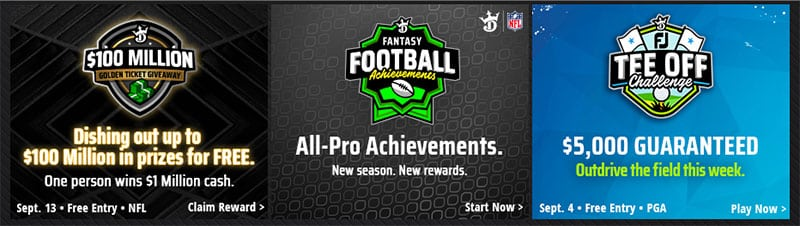 Special DraftKings promo code offer for November
