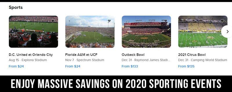 seatgeek coupons for 2020 sporting events