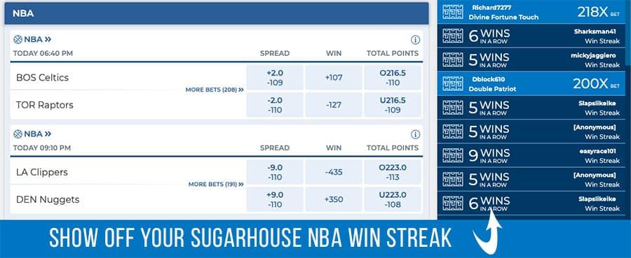 sugarhouse promo code for the 2021 NBA and NHL seasons