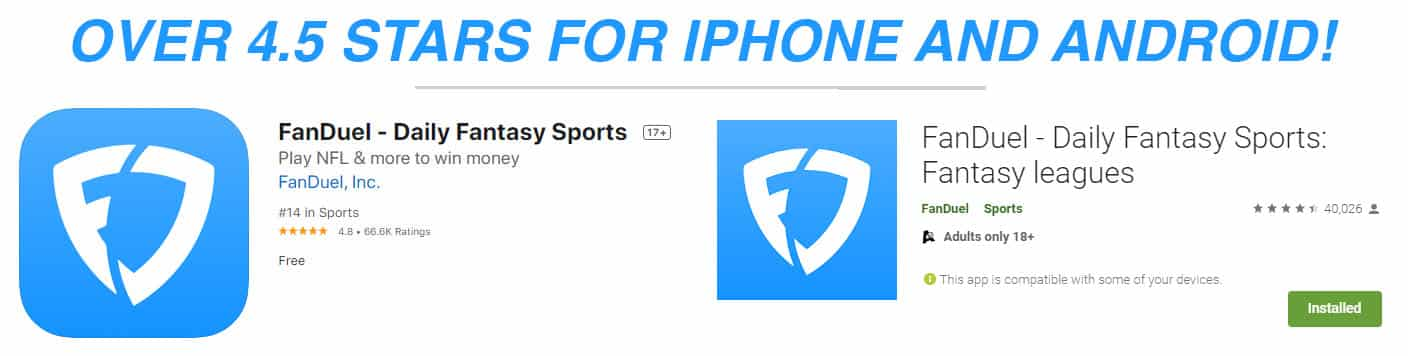 fanduel iphone and android reviews