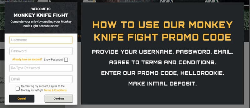 how to use our monkey knife fight promo code