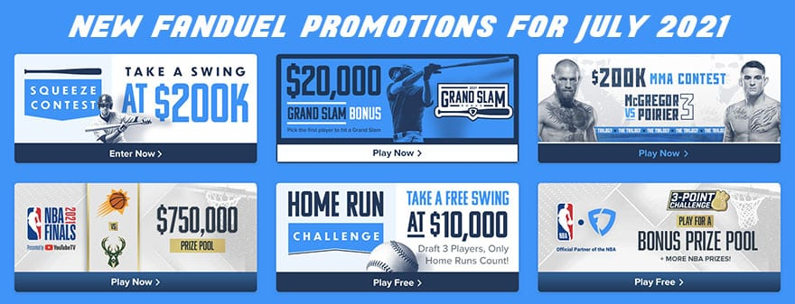 new fanduel promotions for July 2021