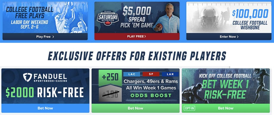 FanDuel promo code offers for existing players