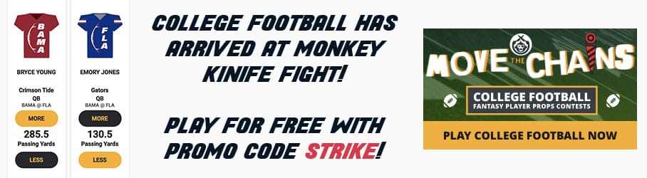 monkey knife fight college football promotions